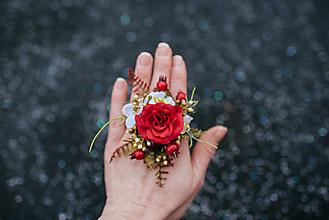 Prstene - Kvetinový prsteň - 9857039_