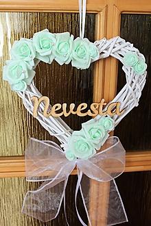 Dekorácie - Set svadobných srdiečok na dvere
