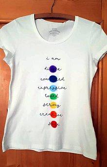 Tričká - Tričko s farbami čakier - 9857219_