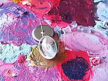 Komponenty - Lôžko na náušnice 13 mm, strieborná farba - 9856125_