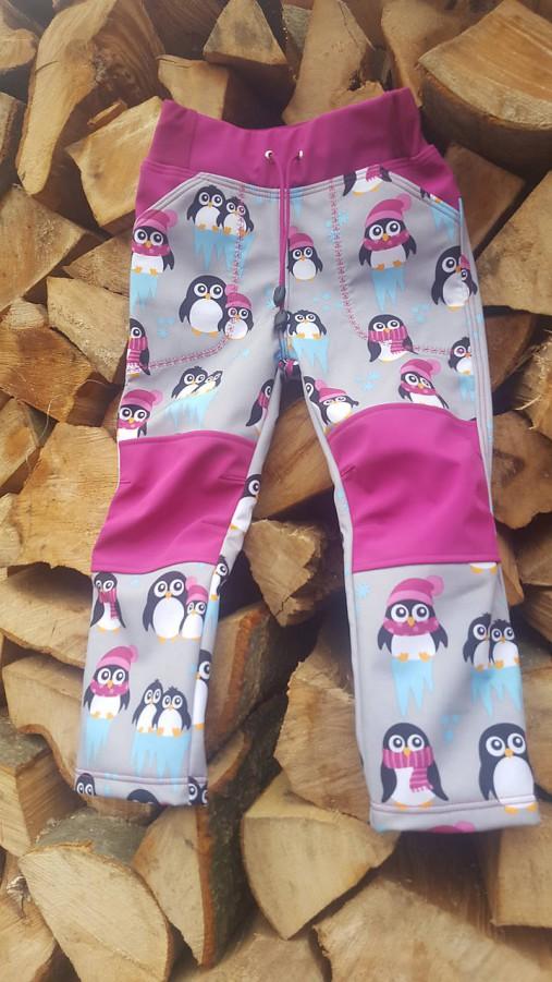 c6adf62bda99 Detské softshellové nohavice - tučniačikovia (98)   Tinka82 - SAShE ...
