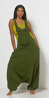 Textil - 100% len metráž, 190g/m2...odstín GREEN TEA - 9855987_