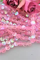 - ružový aura kryštál 10mm - korálky vnútorná aura - 9857152_