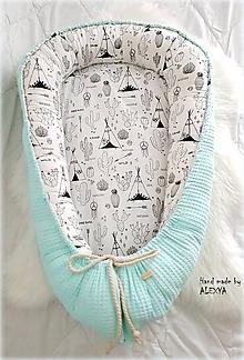 Textil - Hniezdo pre bábätko z vafle bavlny - 9855931_