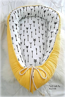 Textil - Hniezdo pre bábätko z vafle bavlny - 9856053_