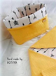 Textil - Košík na plienky z vafle bavlny - 9856093_