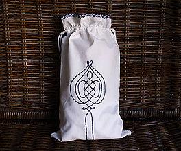 Úžitkový textil - Vyšívané vrecko na pečivo (27x57 cm) - 9856228_