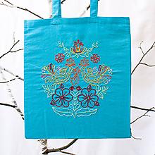 Nákupné tašky - Vyšívaná eko taška - 9856320_