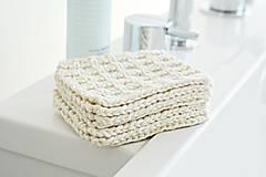 Úžitkový textil - Eko pletené odlíčovacie tampóny - 9856745_