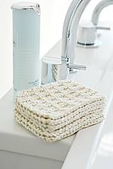 Úžitkový textil - Eko pletené odlíčovacie tampóny - 9856748_