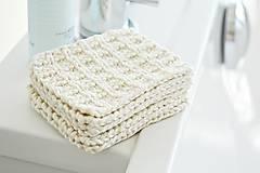 Úžitkový textil - Eko pletené odlíčovacie tampóny - 9856749_