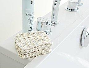 Úžitkový textil - Eko pletené odlíčovacie tampóny - 9856744_