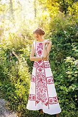 Šaty - zľava %Dlhé úzke vyšívané šaty Slavianka - 9855337_