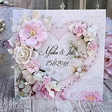 Papiernictvo - Svadobná pohľadnica - 9854628_