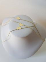 Náhrdelníky - Zlatá retiazka so srdiečkom (Žlté zlato) - 9856039_