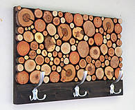 Nábytok - Závesný drevený vešiak RUSTIC 3 - 9854846_