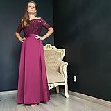 Spoločenské šaty s holymi ramenami rôzne farby