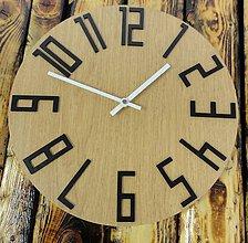 Hodiny - Moderné hodiny na stenu DUB ČIERNE čísla - 9854888_