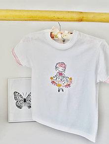 Detské oblečenie - tričko-kvetinková víla-ružová - 9855625_