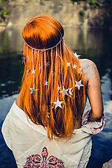 Ozdoby do vlasov - Retiazková čelenka s hviezdičkami z kolekcie Mermaid dream - 9854452_