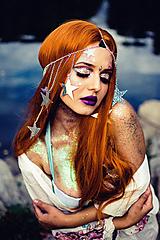 Ozdoby do vlasov - Retiazková čelenka s hviezdičkami z kolekcie Mermaid dream - 9854453_