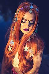 Ozdoby do vlasov - Zrkadlová retiazková čelenka s hviezdičkami z kolekcie Mermaid dream - 9854582_
