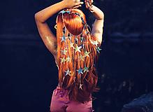 Ozdoby do vlasov - Zrkadlová retiazková čelenka s hviezdičkami z kolekcie Mermaid dream - 9854597_