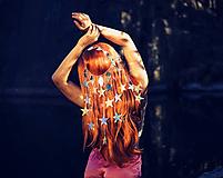 Ozdoby do vlasov - Zrkadlová retiazková čelenka s hviezdičkami z kolekcie Mermaid dream - 9854598_