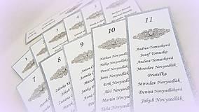 Papiernictvo - Kartičky na zasadací poriadok