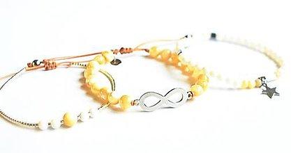 Sady šperkov - Sada dámskych šperkov BRYXI z korálok a ocele - 9854786_