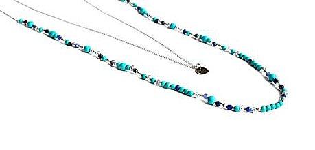 Náhrdelníky - Dámsky vrstvený náhrdelník BRYXI z kameňov, kryštálov a ocele - 9854858_