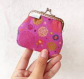 - Peňaženka mini Zhluk bodiek - pink - 9856724_