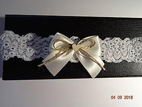 Bielizeň/Plavky - Vintage svadobný podväzok - 9857261_