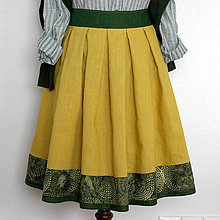 Sukne - ľanová sukňa - 9855924_