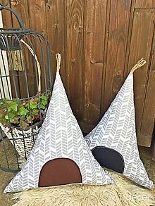 Textil - TEEPEE / vankúšik, dekorácia - 9854496_
