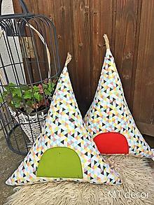 Úžitkový textil - TEEPEE /  vankúšik, dekorácia, stan - 9854553_