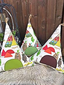 Textil - TEEPEE / vankúšik, dekorácia, stan - 9854559_