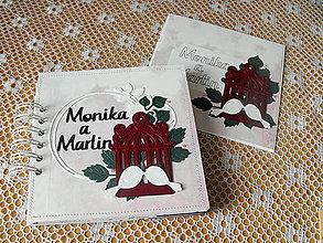Papiernictvo - Svadobný minialbum s pozdravom - 9856440_
