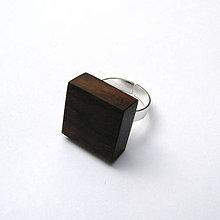 Prstene - Palisandrový kvádrik - 9856759_