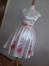 Šaty - Saténové maľované šaty - 9854673_