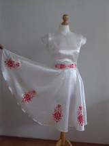 Šaty - Saténové maľované šaty - 9854674_