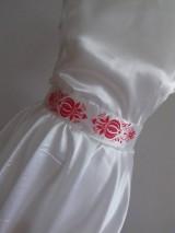 Šaty - Saténové maľované šaty - 9854680_