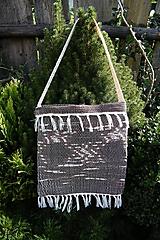 Iné tašky - Tkaná taška hnedá 2 - 9854887_