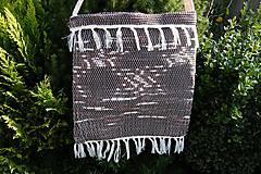 Iné tašky - Tkaná taška hnedá 2 - 9854892_