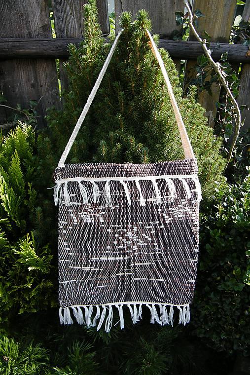 Tkaná taška hnedá 2
