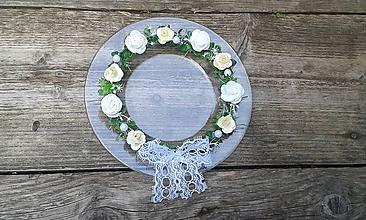 Prstene - Tanierik na obrúčky s ružičkovým venčekom - 9858448_