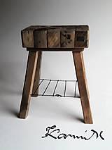 Nábytok - Stolik wood & steel ll - 9858230_