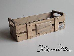 Krabičky - Drevená krabička wood & steel - 9857692_