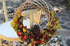 Dekorácie - Jesenný maxi veniec - 9857884_