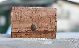 - Korková peňaženka S - 9860595_
